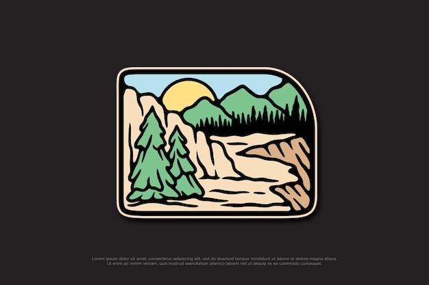 Insigne de conception d'illustration de la nature