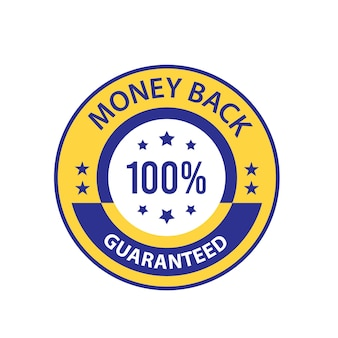 Insigne de confiance de vecteur garanti de remboursement