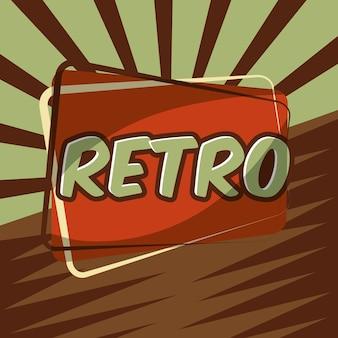 Insigne d'étiquette rétro vintage lettrage d'élément