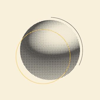 Insigne de demi-teinte vintage noir sur vecteur fond beige