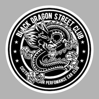 Insigne de dragon noir