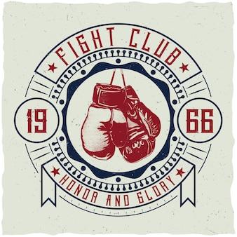 Insigne du club de combat