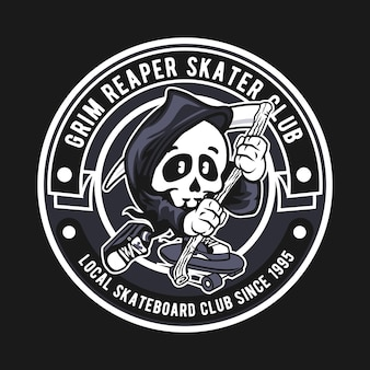 Insigne du grim reaper skater club