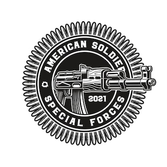 Insigne d'un fusil ak47