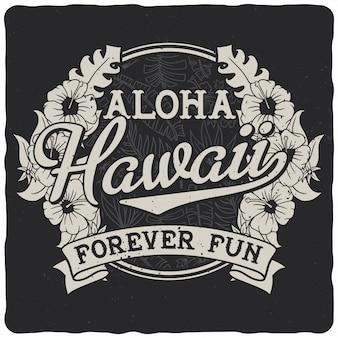 Insigne d'hawaï