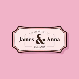 Insigne d'invitation de mariage de style classique