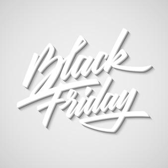 Insigne de lettrage de vente du vendredi noir