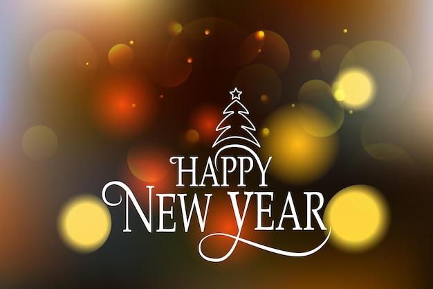Insigne de logo de bonne année esquissée à la main et typographie d'icône lettrage dessiné à la main de happy new