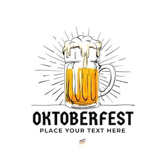 Insigne de logo dessiné à la main oktoberfest.