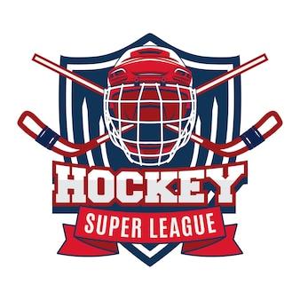 Insigne de logo du tournoi de hockey sur glace