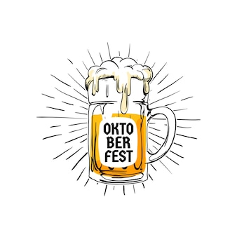 Insigne de logo vintage oktoberfest