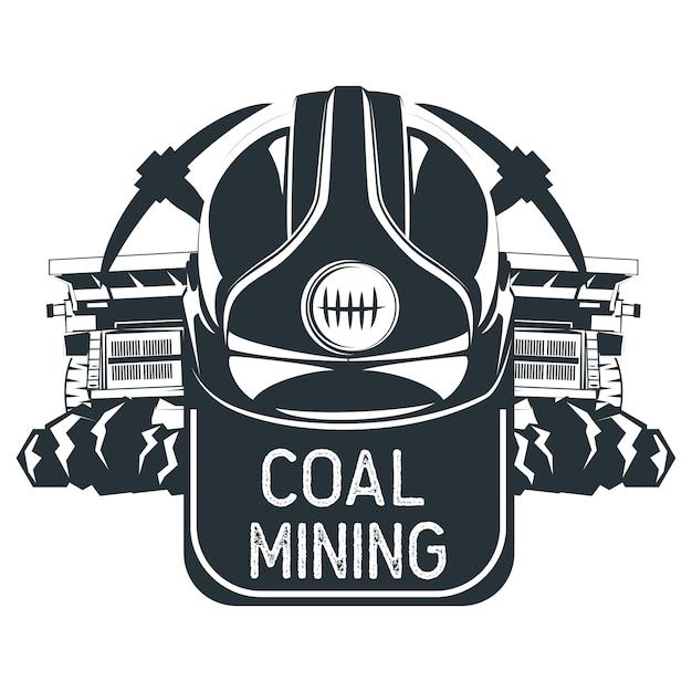 Insigne des mines de charbon. illustration vectorielle