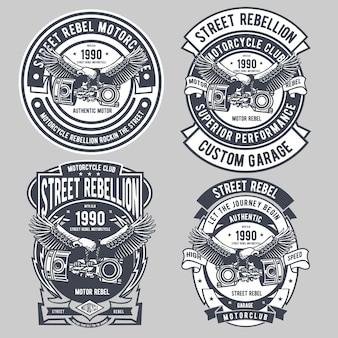 Insigne de moto street rebel