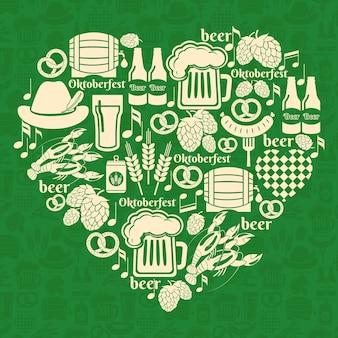 Insigne d'oktoberfest de vecteur. j'adore le festival de la bière