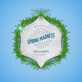 Insigne réaliste festival printemps folie