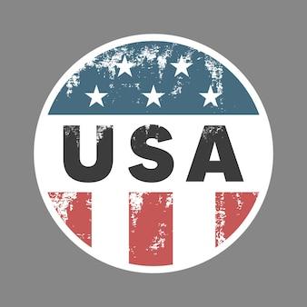 Insigne rétro des états-unis. étiquette de vote