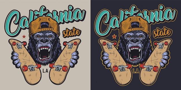 Insigne de skateboard coloré