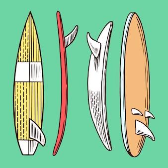 Insigne de surf, logo vintage surfer.
