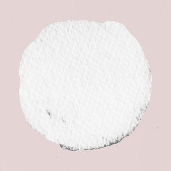 Insigne de texture vecteur toile blanche avec espace de conception