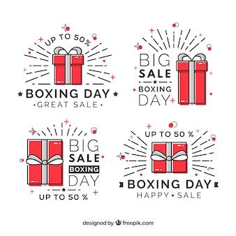 Insigne de vente de jour de boxe moderne