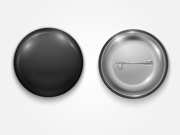 Insigne vierge noir réaliste, illustration réaliste de vecteur isolé