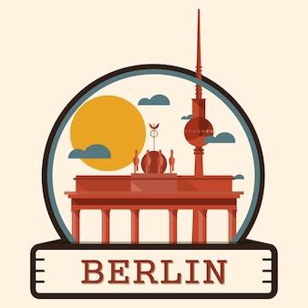 Insigne De La Ville De Berlin, Allemagne Vecteur Premium