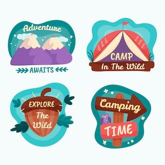 Insignes d'aventure dessinés à la main