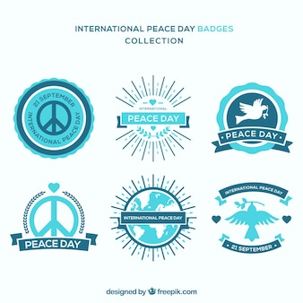 Insignes bleus pour la journée internationale de la paix