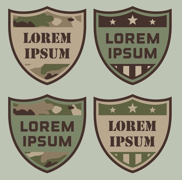Insignes de bouclier militaire