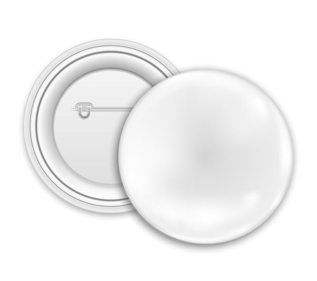 Insignes de bouton blanc isolés