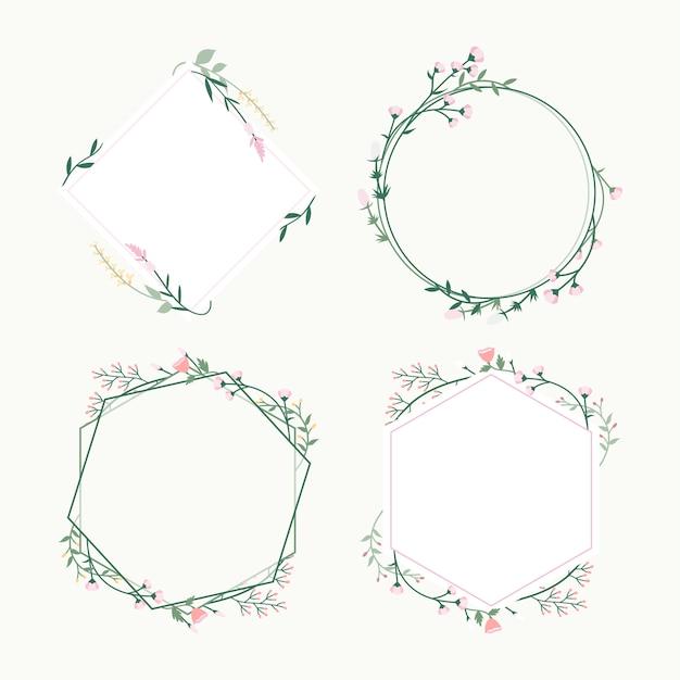 Insignes de cadres floraux