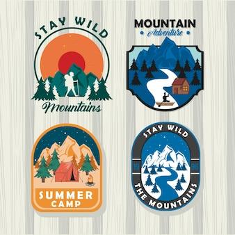 Insignes de camping d'été
