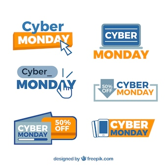 Insignes créatifs cyber lundi