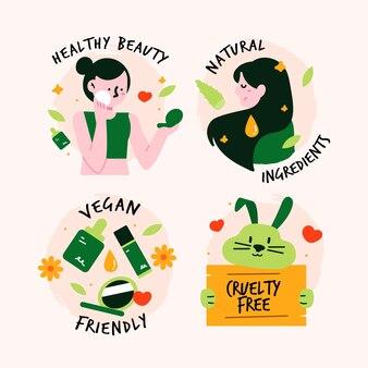 Insignes dessinés sans cruauté et végétaliens