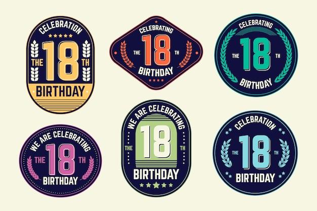 Insignes du 18e anniversaire