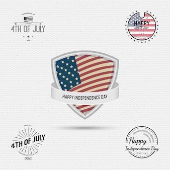 Insignes du jour de l'indépendance des etats-unis, le 4 juillet