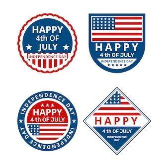 Insignes du jour de l'indépendance des états-unis