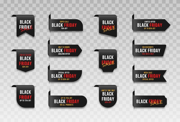 Insignes d'étiquettes pour les étiquettes de vente du marché du vendredi noir étiquette de signe de vente d'achat et étiquettes de marketing promotionnel meilleur prix enregistrer la carte de coupon