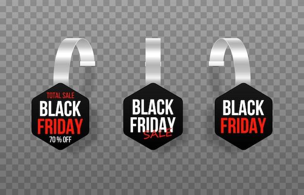 Insignes d'étiquettes pour les étiquettes de vente du marché du vendredi noir étiquette de signe de vente d'achats