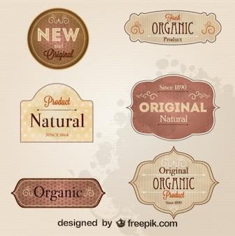 Insignes et étiquettes de style rétro