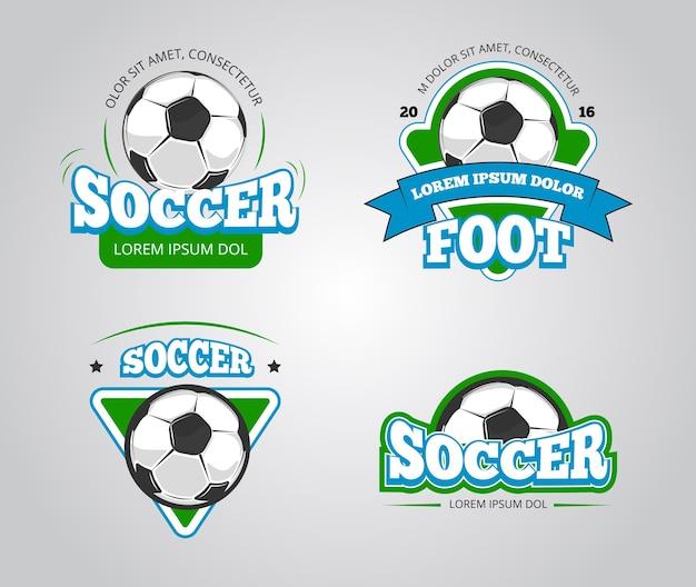 Insignes de football football vecteur
