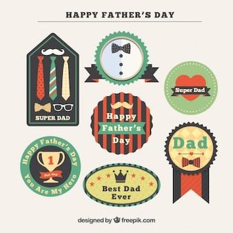 Les insignes de jour de decorative père dans la conception vintage