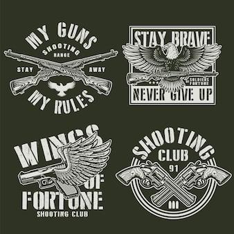 Insignes militaires monochromes vintage