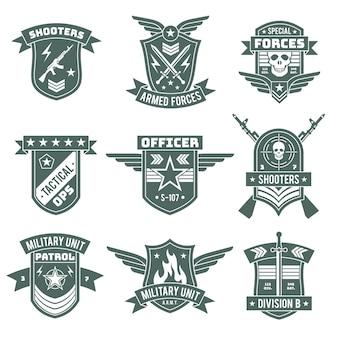 Insignes militaires patchs militaires chevron brodé avec ruban