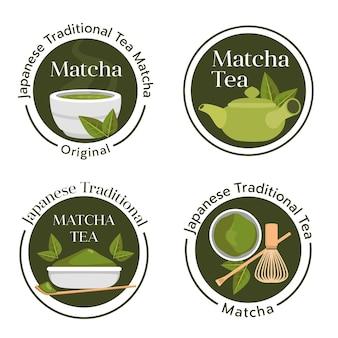 Insignes de thé matcha