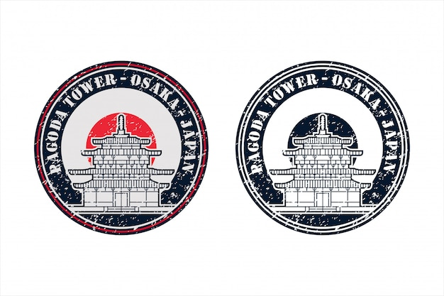 Insignes de tour de pagode