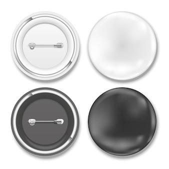 Insignes de vecteur noir et blanc