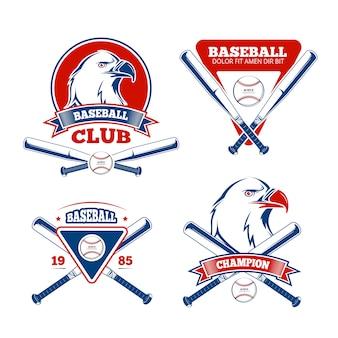 Insignes de vecteur de sport de baseball rétro pour vêtements de sport pour garçons