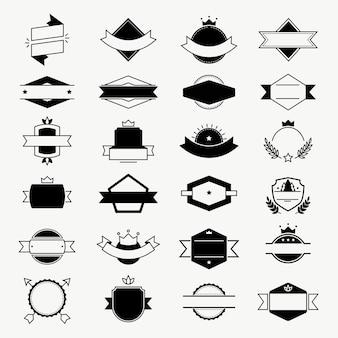 Insignes de vecteur