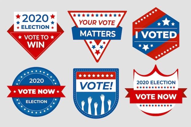 Insignes de vote et autocollants